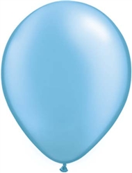 Pearl Azure Blue Latex Balloons