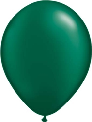 "5"" Pearl Forest Green Latex Balloons - 100 Count"