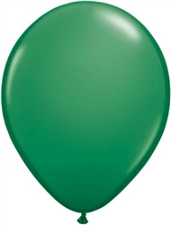 "9"" Standard Dark Green Latex Balloons - 100 Count"