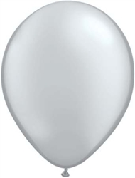 Metallic Silver Latex Balloons for Sale