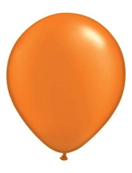 "5"" Pearl Mandarin Orange Latex Balloons - 100 Count"