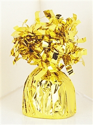 Gold Fringed Foil Wrapped Balloon Weight
