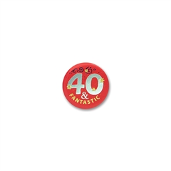 40 & Fantastic Satin Button