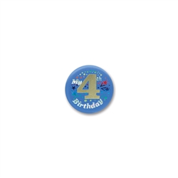 My 4th Birthday Satin Button