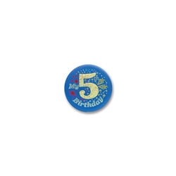 My 5th Birthday Satin Button