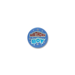 Birthday Boy Satin Button