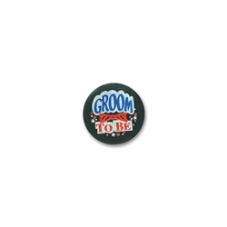Groom To Be Satin Button