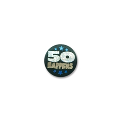 50 Happens Satin Button