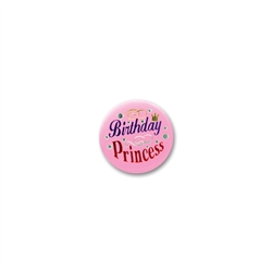 Birthday Princess Satin Button