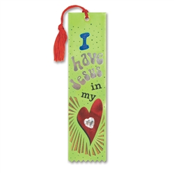 I Have Jesus In My Heart Jeweled Bookmark Ribbon