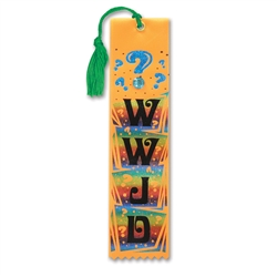 WWJD Jeweled Bookmark Ribbon