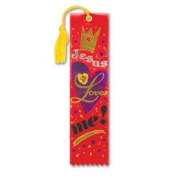 Jesus Loves Me! Jeweled Bookmark Ribbon