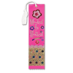 Modest Is Hottest Jeweled Bookmark Ribbon