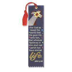For God So Loved the World Jeweled Bookmark Ribbon