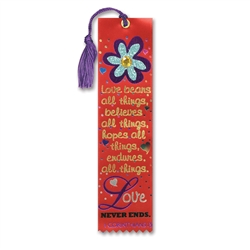 Love Bears All Things Jeweled Bookmark Ribbon