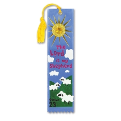 The Lord Is My Shepherd Jeweled Bookmark Ribbon