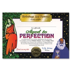 Aged to Perfection Certificate Greeting