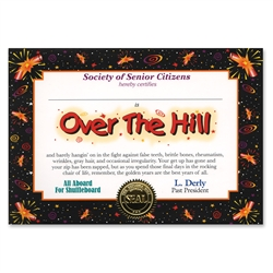 Over-The-Hill Certificate Greeting