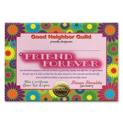 Friend Forever Certificate Greeting