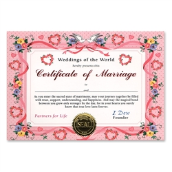 Certificate of Marriage Certificate Greeting