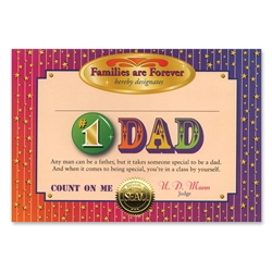 #1 Dad Certificate Greeting