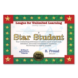 Star Student Certificate Greeting