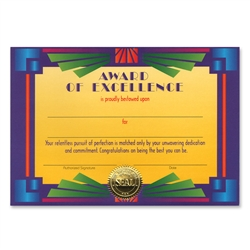 Award of Excellence Certificate Greeting