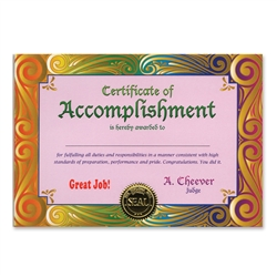 Certificate of Accomplishment Certificate Greeting
