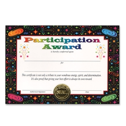 Participation Award Certificate Greeting