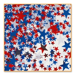 Red, White & Blue Stars Confetti