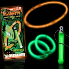 Halloween Glow Necklace, Glow Bracelet and Lightstick for Sale