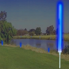 10'' BLUE MARKER LIGHTS w/ GROUND STAKES