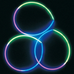Green, Blue and Pink Tri-Color Glow Necklaces for Sale