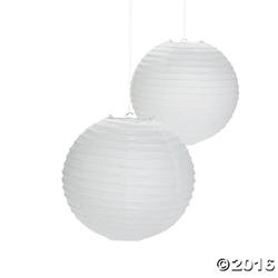 "12"" White Paper Lanterns 