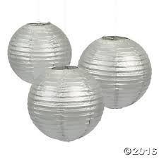 Silver Paper Lanterns | Party Supplies