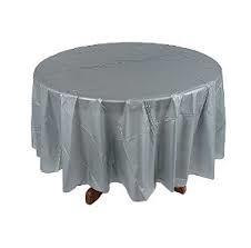 Silver Round Tablecloth | Party Supplies