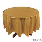 Gold Round Tablecloth | Party Supplies
