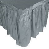 Silver Pleated  Table Skirting