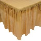 Gold Pleated  Table Skirting