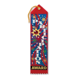 Participation Award Jeweled Ribbon