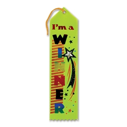 I'm a Winner Jeweled Ribbon