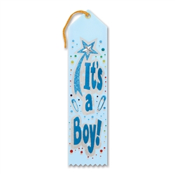 It's a Boy Jeweled Ribbon
