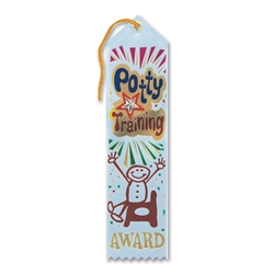 Potty Training Award Jeweled Ribbon