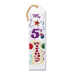 My 5th Birthday Jeweled Ribbon