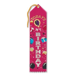 Today's My Birthday Jeweled Ribbon