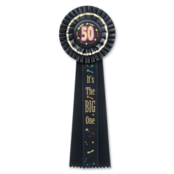 50 It's The Big One Deluxe Rosette