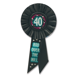 40 & Over-the-Hill Rosette