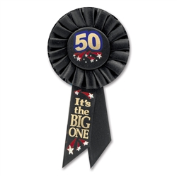 50 It's The Big One Rosette | Party Supplies