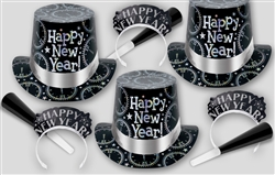 Black & Silver New Year's COUNTDOWN Assortment
