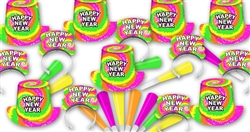 1980's Neon New Years Party Assortment for 100 People